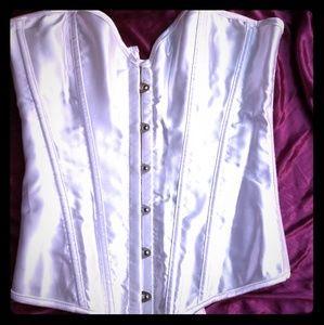 Pearl white corset